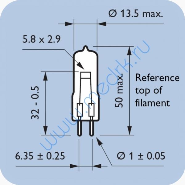 Лампа галогенная Philips 14623 17V 95W G6.35  Вид 7