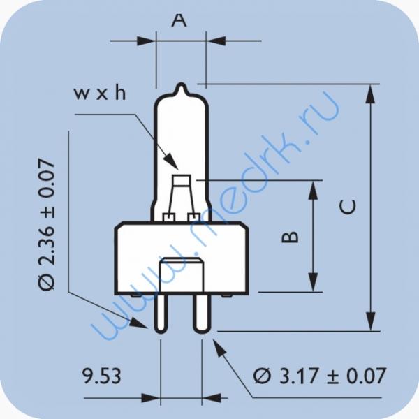 Лампа галогенная Philips 14623P 17V 95W GZ9.5  Вид 1