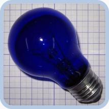 Лампа синяя БС 230-240-100 E27