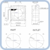 Вентилятор для рециркулятора КАМА ОБНР 2х8-01