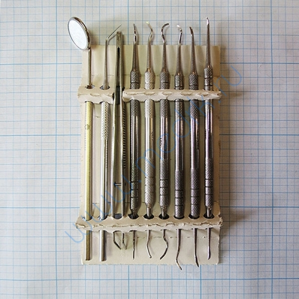 Набор стоматологический для снятия зубных отложений (из 9 инстр.) СТ-10-304   Вид 1