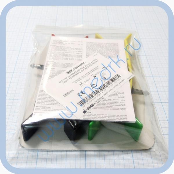 Электрод конечностный для взрослых с винтом и зажимом FIAB F9024SSC