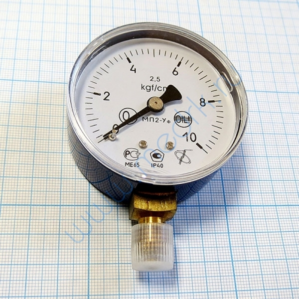Манометр кислородный МП2-УУ2 х 10.0 kgf/cm2  Вид 2
