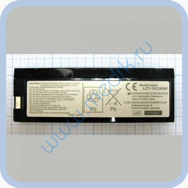 Аккумулятор LCT-1912ANK 12V 1.9Ah для ЭКГ Nihon  Вид 3