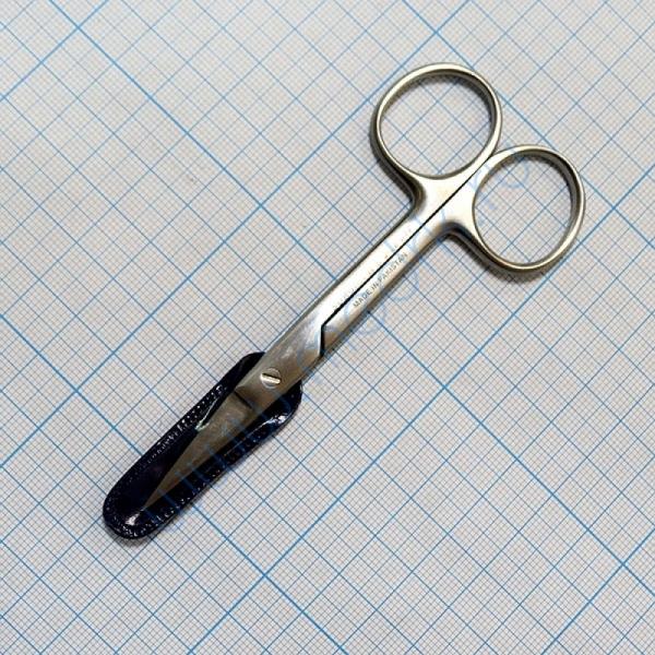 Ножницы прямые с 2 острыми концами 100 мм J-22-017  Вид 3