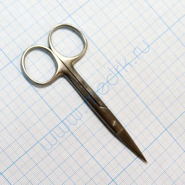 Ножницы прямые с 2 острыми концами 100 мм J-22-017  Вид 4