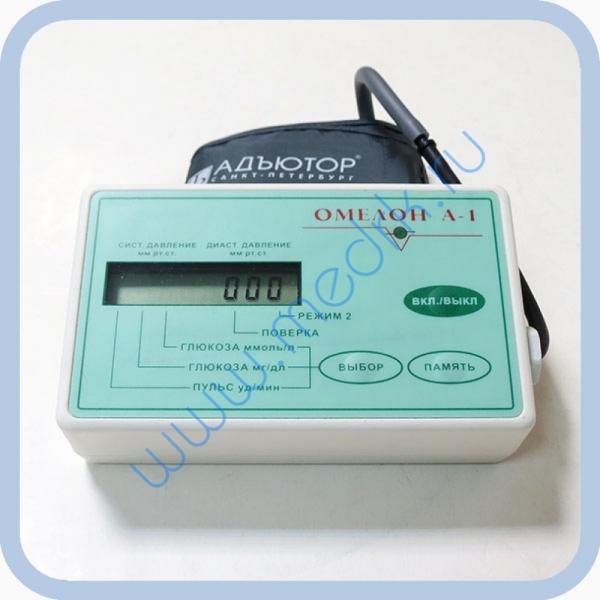 Глюкометр + тонометр-автомат Омелон А-1 неинвазивный  Вид 4
