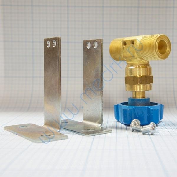 Клапан запорный проходной К-1409-250 с кронштейном  Вид 4