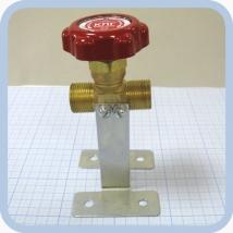 Клапан запорный проходной К-1409-250 с кронштейном