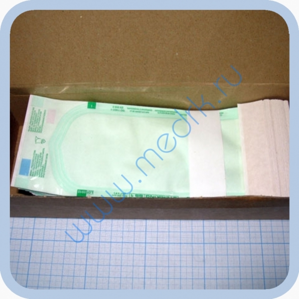 Крафт-пакет самоклеящийся с индикатором для стерилизации  Вид 1