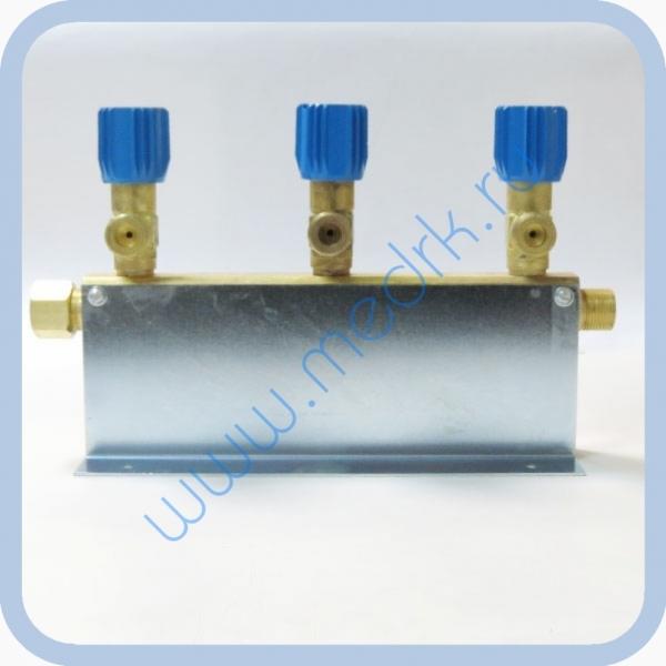 Коллектор рамповый КР-01 кислородный 3-х вентильный  Вид 1