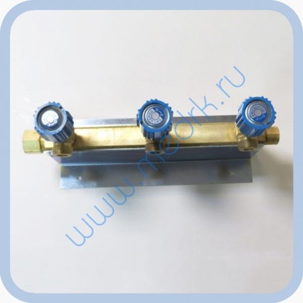 Коллектор рамповый КР-01 кислородный 3-х вентильный  Вид 3