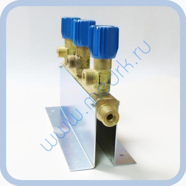 Коллектор рамповый КР-01 кислородный 3-х вентильный  Вид 7