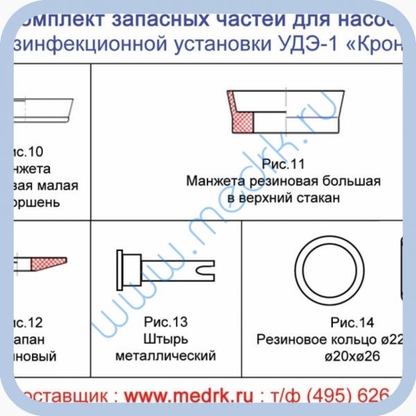 Комплект запасных частей (ЗИП) к насосу установки УДЭ-1-Кронт  Вид 1