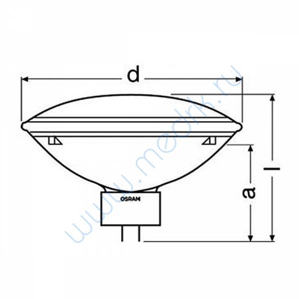 Лампа Osram PAR 64738/4 NSP 240V 1000W GX16d  Вид 2