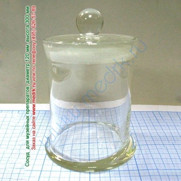 Сосуд для музейных препаратов Ø120мм h-300мм