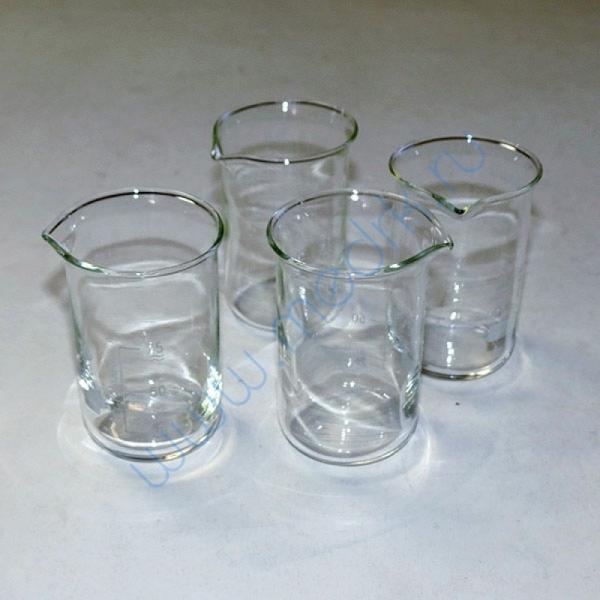 Стаканы лабораторные стеклянные В-1 с мерной шкалой  Вид 2
