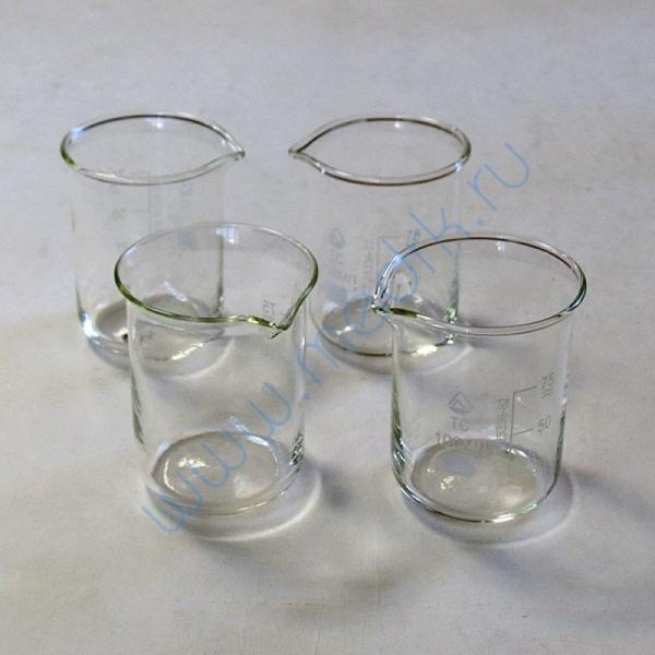 Стаканы стеклянные лабораторные Н-1 с мерной шкалой  Вид 2