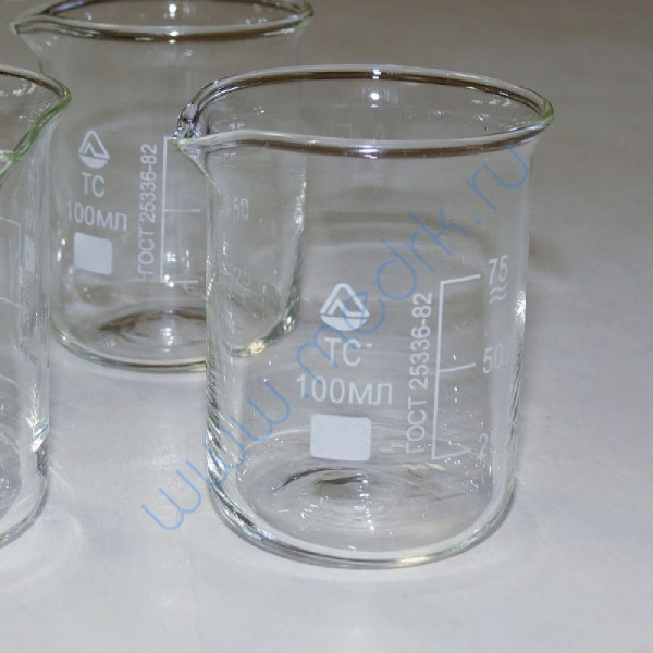 Стаканы стеклянные лабораторные Н-1 с мерной шкалой  Вид 3