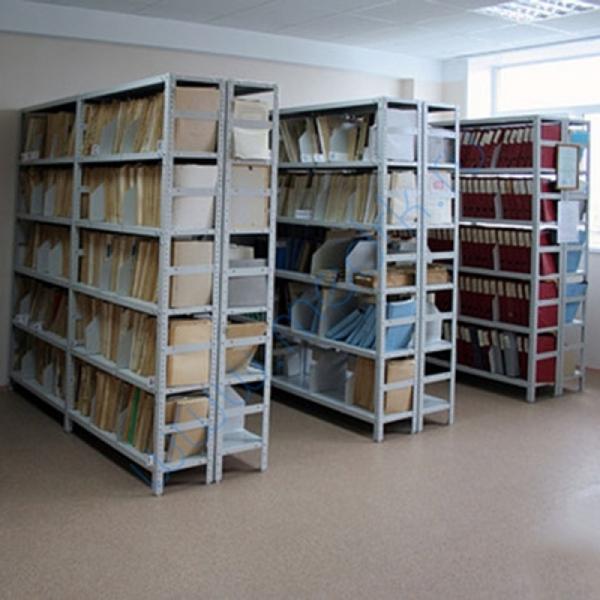 Стеллаж металлический архивно-складской  Вид 1