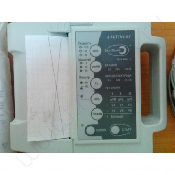 Электрокардиограф ЭК12Т Альтон-03 многоканальный  Вид 14