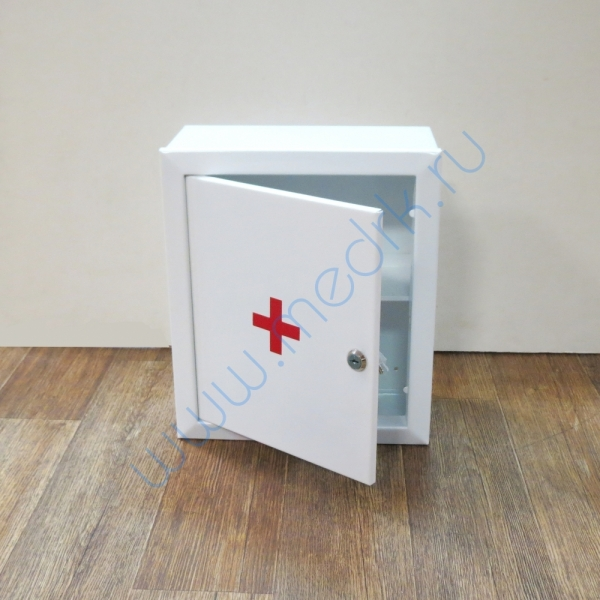 Аптечка 2 навесная, металлическая с замком и ключом  Вид 1