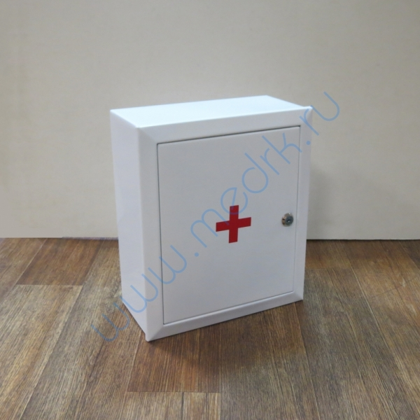 Аптечка 2 навесная, металлическая с замком и ключом  Вид 6