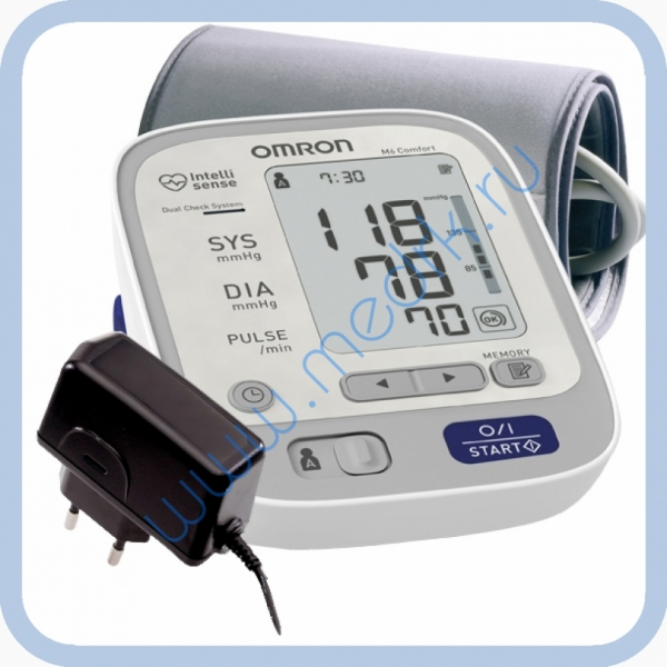 Тонометр Omron M6 Comfort с адаптером  Вид 1