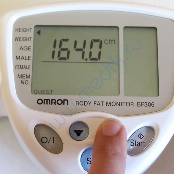 Определитель жировых отложений Omron BF-306 ручной  Вид 9