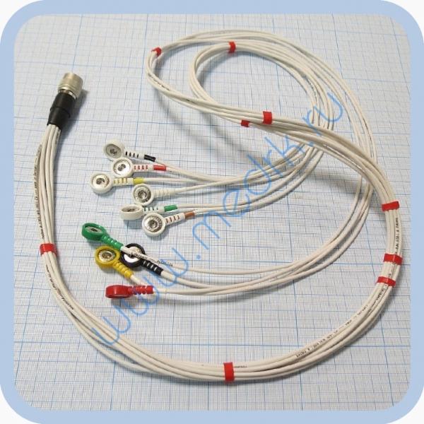 Кабель для подключения одноразовых электродов для КТ-04-8, КТ-04АД-3(М) (12 pin)  Вид 1