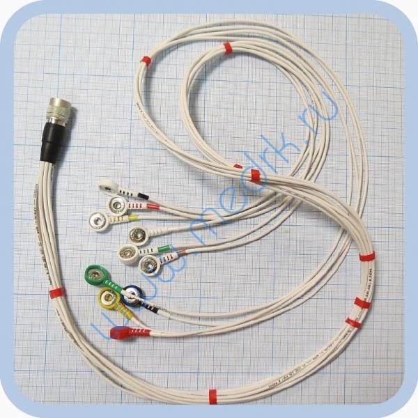 Кабель для подключения одноразовых электродов для КТ-04-8, КТ-04АД-3(М) (12 pin)  Вид 2