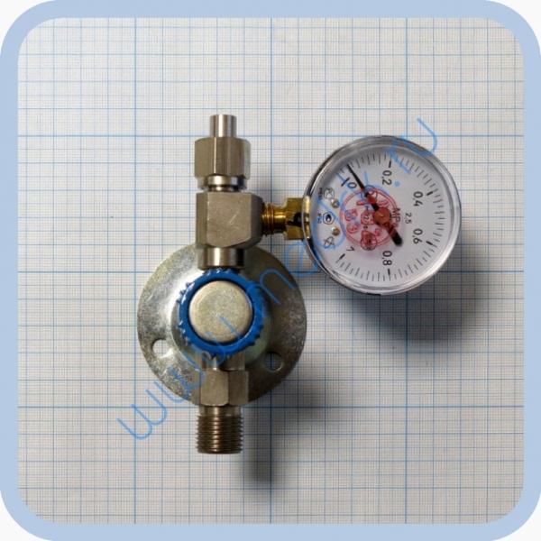 Вентиль медицинский с манометром на вход (клапан запорный К-1101-16) для кислорода, закиси азота   Вид 1