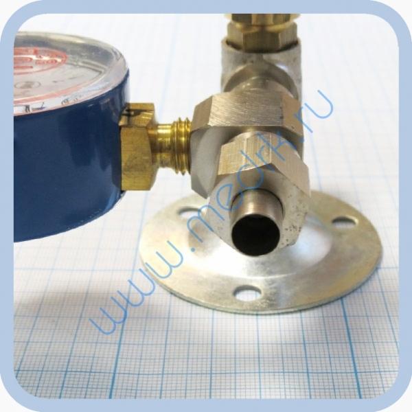 Вентиль медицинский с манометром на вход (клапан запорный К-1101-16) для кислорода, закиси азота   Вид 6