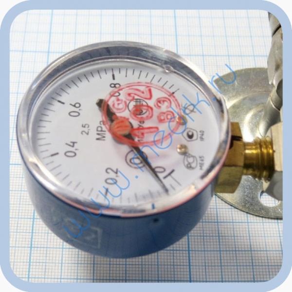 Вентиль медицинский с манометром на вход (клапан запорный К-1101-16) для кислорода, закиси азота   Вид 7
