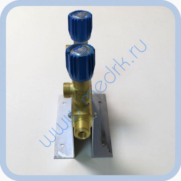 Коллектор рамповый КР-01 кислородный 2-х вентильный  Вид 1