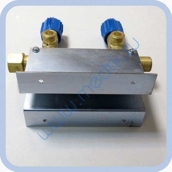 Коллектор рамповый КР-01 кислородный 2-х вентильный  Вид 5