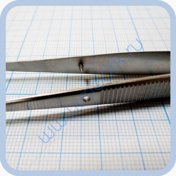 Пинцет анатомический глазной, прямой 150 мм J-16-140   Вид 4