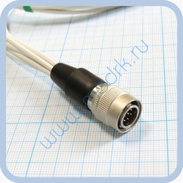 Кабель для подключения одноразовых ЭКГ-электродов на 3 отведения 7 электродов для аппарата Кардиотехника  Вид 3