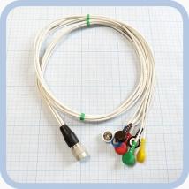 Кабель для подключения одноразовых ЭКГ-электродов на 3 отведения 7 электродов для аппарата Кардиотехника