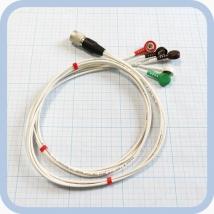 Кабель для подключения одноразовых ЭКГ-электродов на 3 отведения 5 электродов