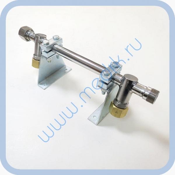 Коллектор рамповый КР-02-02 коррозионностойкий (два клапана)  Вид 1