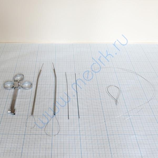 Петля полипная носовая с двумя наконечниками для рвущей и режущей петли Krause-Voss 16-184   Вид 2