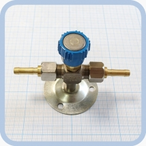 Клапан запорный К-1110-16 с ниппелем под шланг