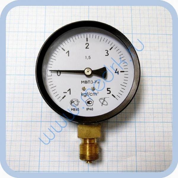 Мановакуумметр МВП3-Уф (-100...0...500) кПа, IP40, радиальный штуцер М20х1,5  Вид 1