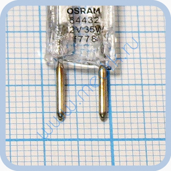 Лампа галогеновая Osram Halostar 64432 12V 35W GY6,35  Вид 5