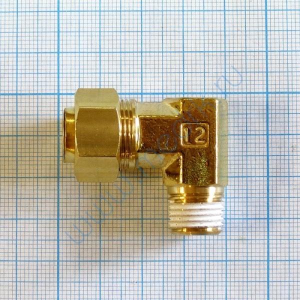 Соединение угловое резьбовое 12R 1/4 KFL12B-02S  Вид 2