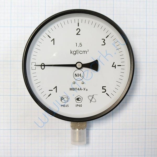 Мановакуумметр МВП4А-Уф (-1..,0...5,0 кгс/см2), аммиак  Вид 3