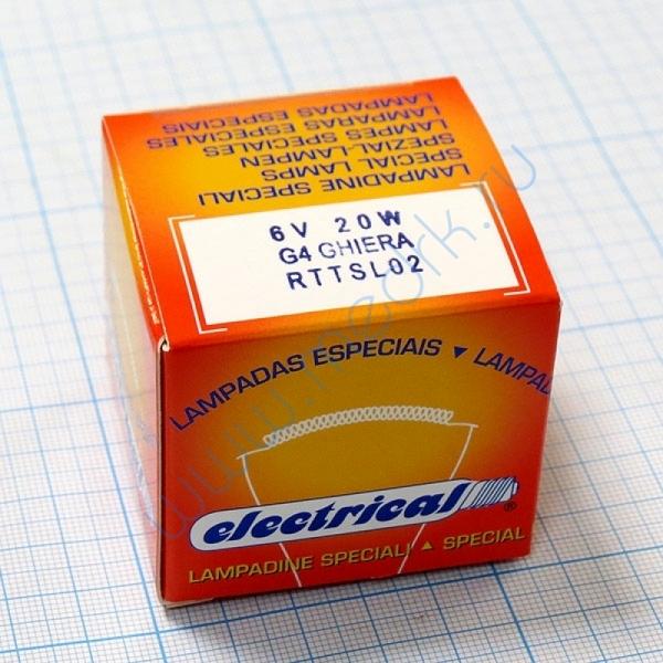 Лампа галогенная (галогеновая) Topcon 6V 20W (TSL02)  Вид 2