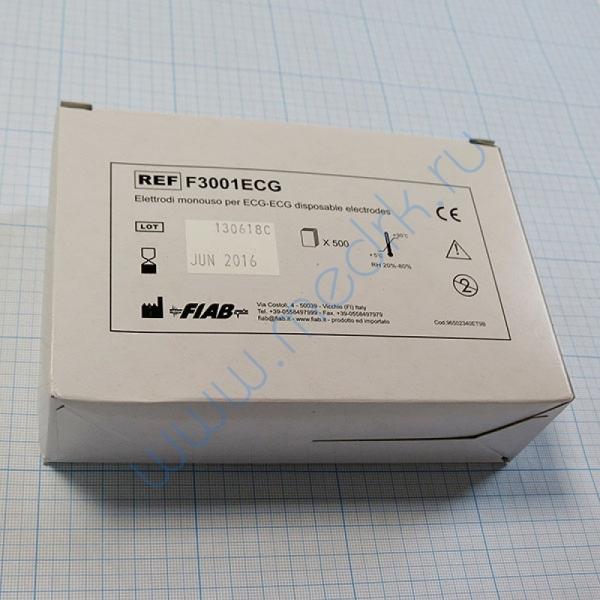 ЭКГ-электрод одноразовый плёночный Fiab F3001  Вид 1