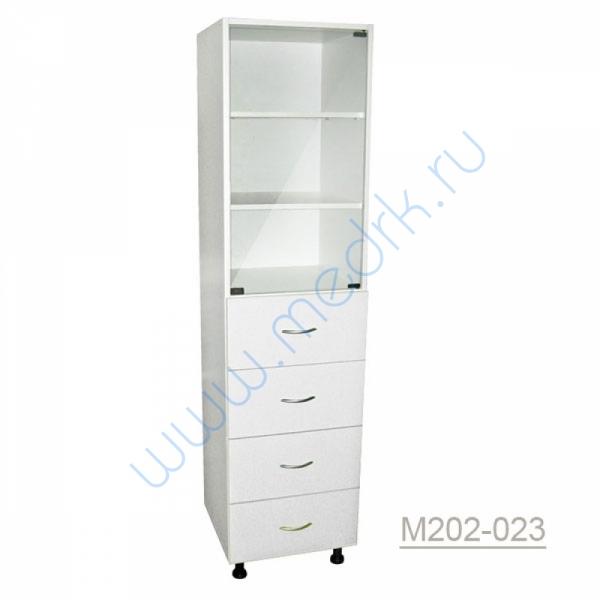 Шкаф одностворчатый медицинский М202-021 с выдвижными ящиками  Вид 2